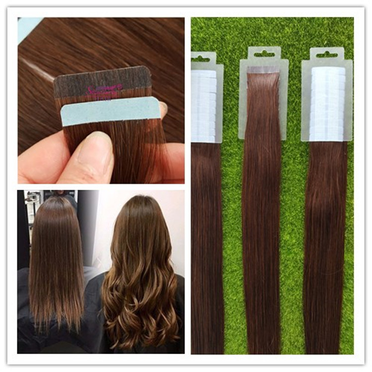Boao 4 Rolls Hair Extension Tape Double Sided Adhesive Human Hair