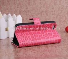 For iPhone 5s 5c Crocodile-embossed Stand Leather IC credit card Case