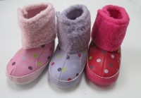 Winter warm stylish baby shoes for girls