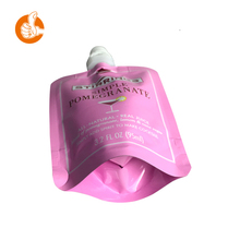 Food plastic eco friendly packaging material polyurethane bag with spout cap