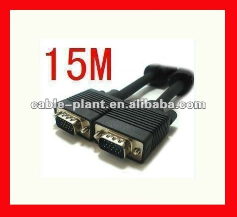 1080P High quality VGA to red white yellow cable with two ferrites
