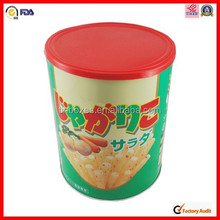 potato chips tin container