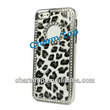 Best-selling Luxury Fashion Glitter Leopard Skin Paste Case Cover for iPhone 5