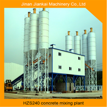 loading single measure hzs240 wet mix concrete batching plant factory with 25m3 bins