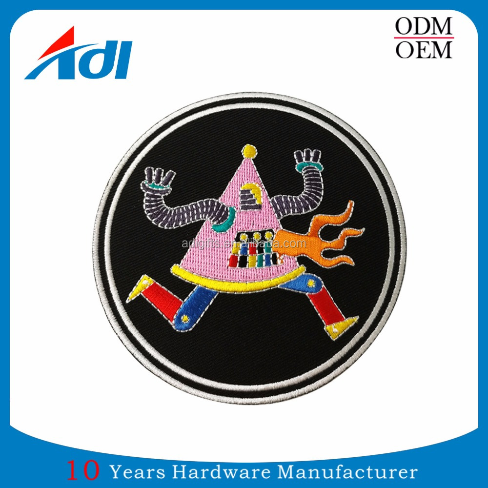 Customized design Iron on cartoon fully embroidered patch with free quote