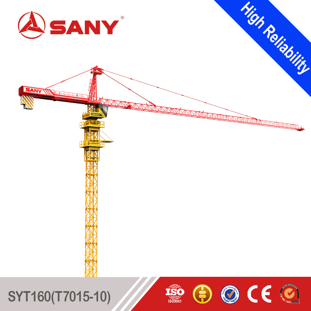 SANY Tower Crane Boom Length Good Price 10 Tons Tower Crane
