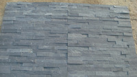 P018 black slate stone veneer with natural surface , slate stacked stone ,cluture stone