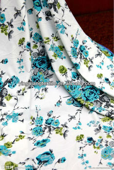 printed cotton/polyster flower fabric with high quality but cheap price