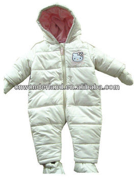 baby warm winter romper kids winter rompers baby hooded roper plain white baby rompers