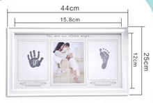 Newborn baby hands and feet printing mud baby hand print frame table,photo frame