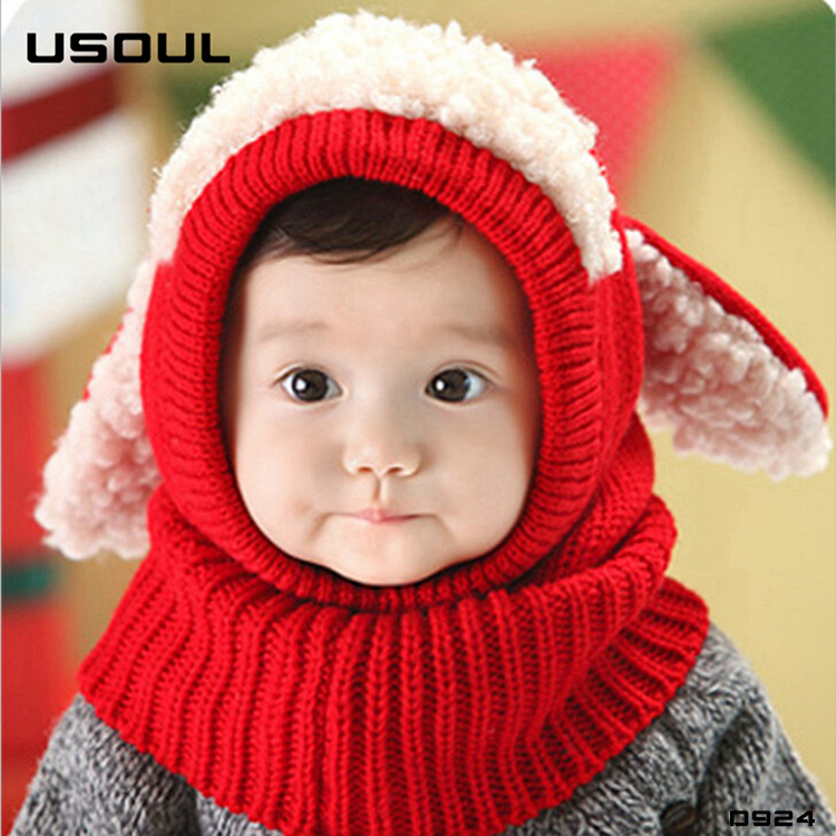 New Fashion Korean Cute Little Dog Keep Warm Ear Round Neck Hat Factory Direct Sales baby <strong>scarf</strong>