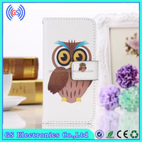 Mobile Phone Protective Printed Pattern Flip Leather Case for Blackberry Z3