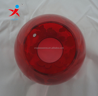 Red color glass lighting cover with surface flower decal decoration