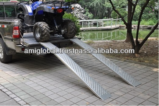"84"" x 11"" ATV Motorcycle Folding Aluminium Ramps 1500 lbs"