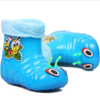 2015 new design baby snow walking shoes crystal worm shoe
