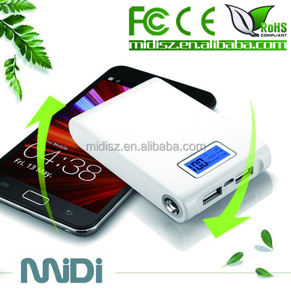 hot sale dual usb power bank 10000mah recharging two machines at the same time!!!