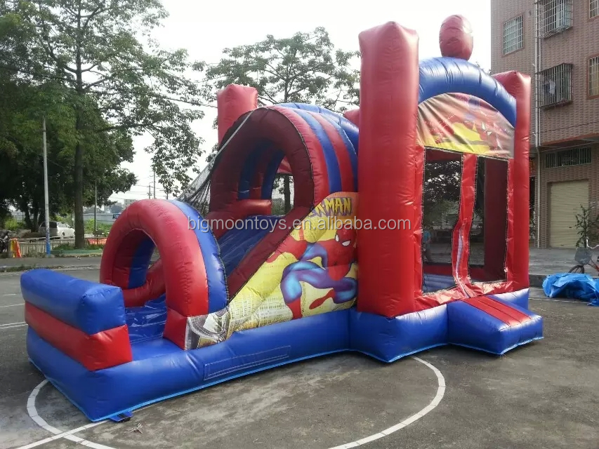 outdoor fun big inflatable combo slide for party