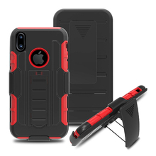 Wholesale rotatable kickstand ROBOT COMBO pc+silicone mobile phone back case for iphone 8