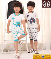 hot sale plain kids pajamas for baby boy night clothes high quality