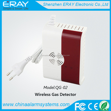 Wireless independent combustible gas detector gas leakage sensor LPG/LNG alarm for home alarm system