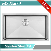 Single Bowl Undermount Handmade Kitchen Stainless Steel Sink
