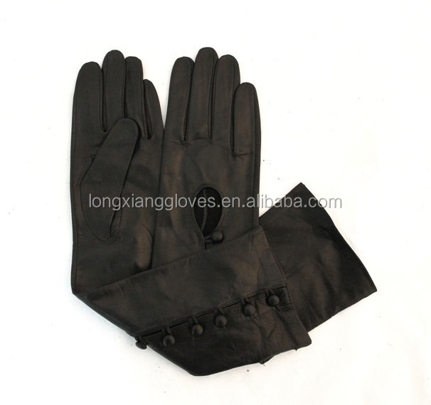 arm length long leather opera gloves