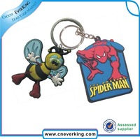 promotional wholesale custom keychain, custom rubber keychain