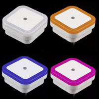 Mini LED 0.5W Night Light Control Auto Sensor Baby Bedroom Lamp square White yellow AC 110V-250V LED night light for baby