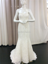 Latest Gown Designs Sweetheart Neckline Ivory Full Beaded Dress Lace Appliqued Zipper Back Mermaid Wedding Gowns 2016 A112