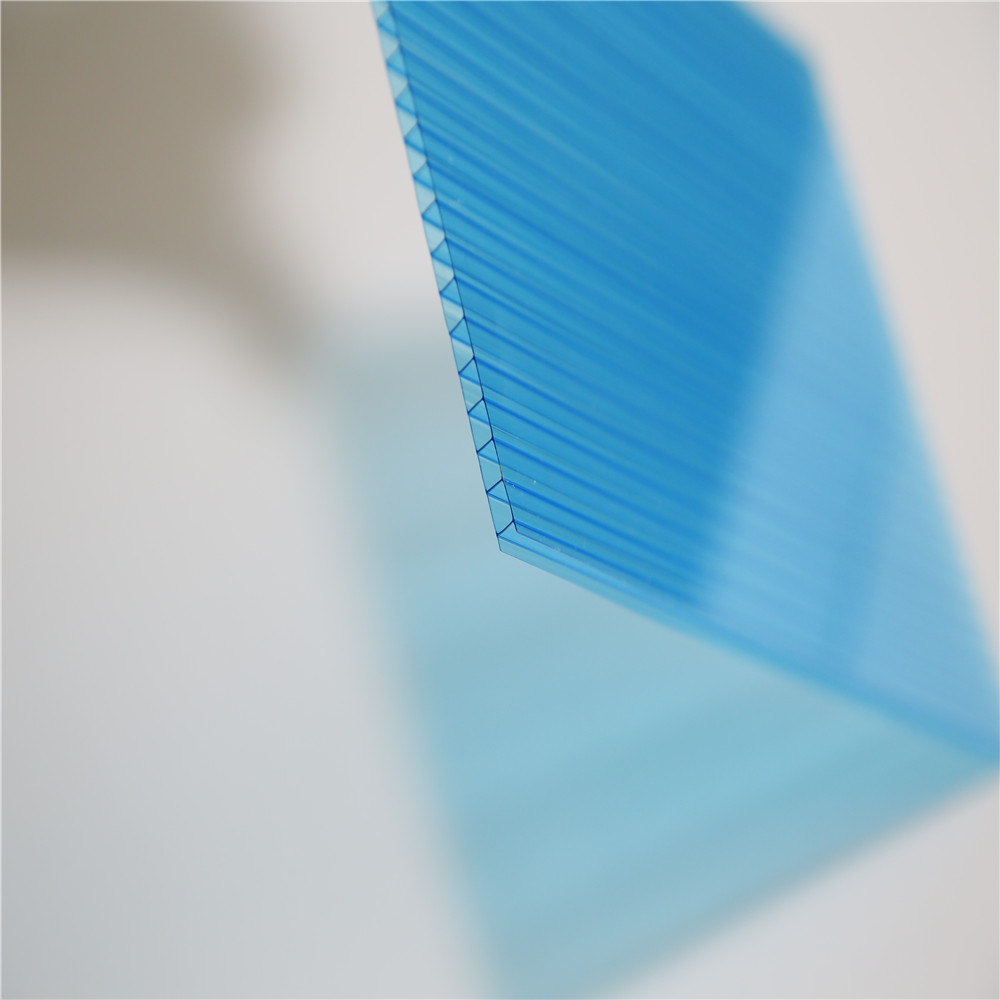 10 warranty poly carbonate sheets sun shelter 8mm Twin Wall hollow sheet