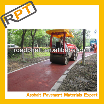 colored cold Asphalt mixture