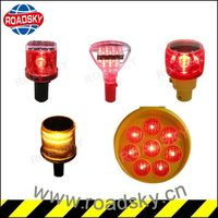 Traffic Road Safety Beacon Flashing Solar Led Warning Light
