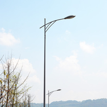 LED Outdoor Lighting Single-arm Type and Steel Material Street Light Pole