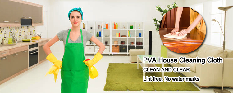 Kitchen use floor use pva chamois household cleaning cloth