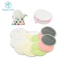 wholesale HappyFlute washable bamboo nursing pads reusable breast pad in set laundry bag