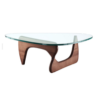 CT-132 Glass Top Special Shape Base Coffee Table