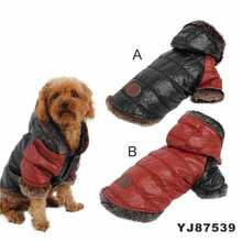 High Grade Plush Imitation Fur and Leather Coat Dog Clothes Patterns