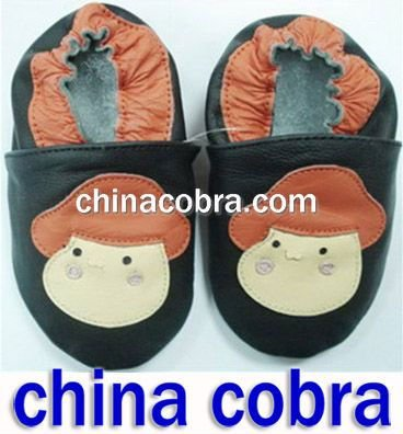 soft sole genuine leather baby walking shoes