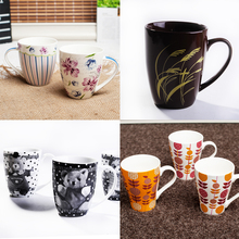 Simply Creative Ceramic Cup With Handle,Drinking Cup with Customized and print the picture on the cup