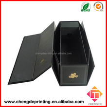 China luxury folding paper wine gift box