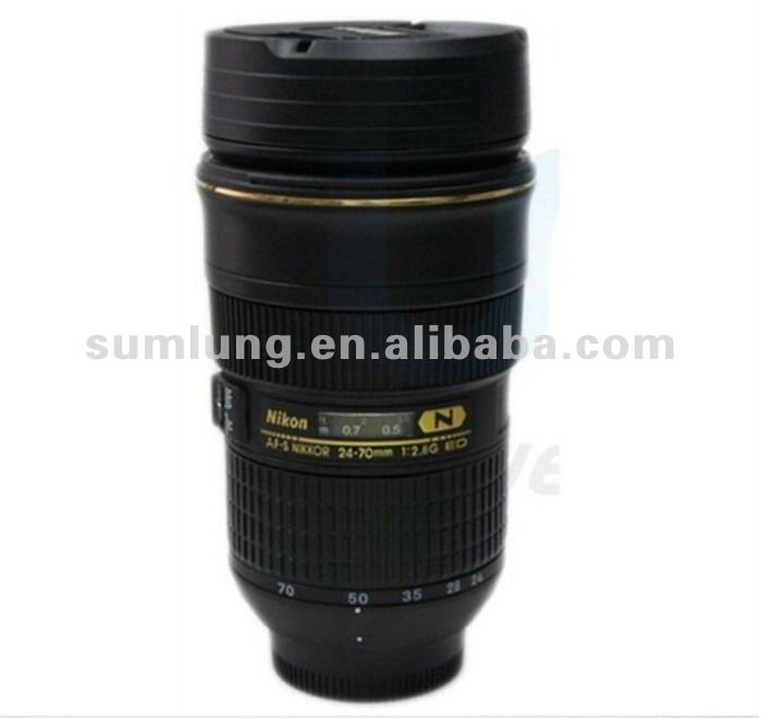 Top Quality camera lens 24-70 shape. Zoomable lens gift cup. telescopic coffee Mug