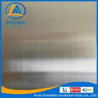304 AISI 3mm thickness Hairline surface 4x8' stainless steel sheet
