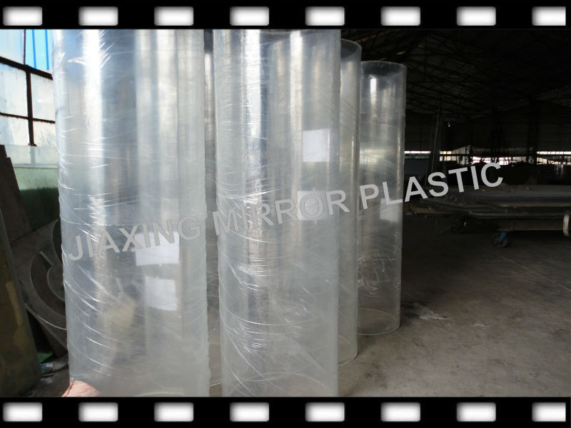 Large diameter clear acrylic tube high quality for sale