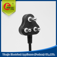 3 pins SOUTH AFRICA STANDARD POWER PLUG POWER CABLE CE VDE ROHS POWER PLUG