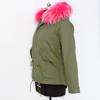 new design factory price popular young grils warmer raccoon fur parka