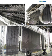 Curtain LED screen transparent led screen , led air-conditioner display