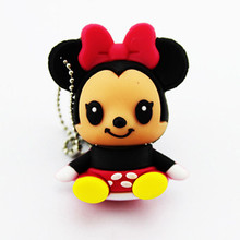 Hot selling high quality Cheapest usb stick,Kids gift Minnie baby usb flash drive, mini pen drive with matal ring