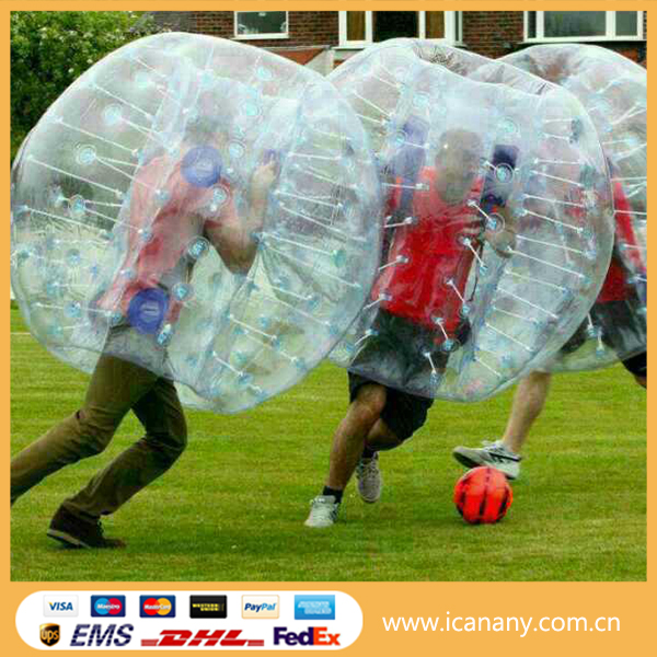 2016 Fashionable sports new human inflatable tpu bumper ball body ball body bounce grass ball soccer
