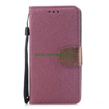 Luxury Contrast Color Silk Grain Pu Leather Wallet Flip case for iPhone X