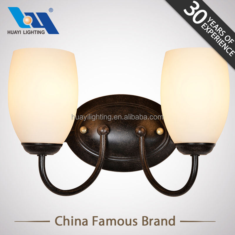 zhongshan lighting Iron Explosion-proof glass MOQ 50PCS fancy wall light